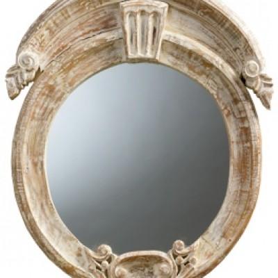 Lasalle industrial metal iron modern rectangle wall mirror for Miroir oeil de boeuf